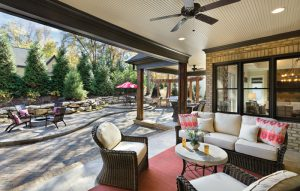 Greenville Model Home Outdoor Living Space