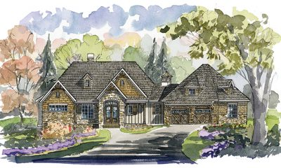 Acadia Home Plan -  Elevation B