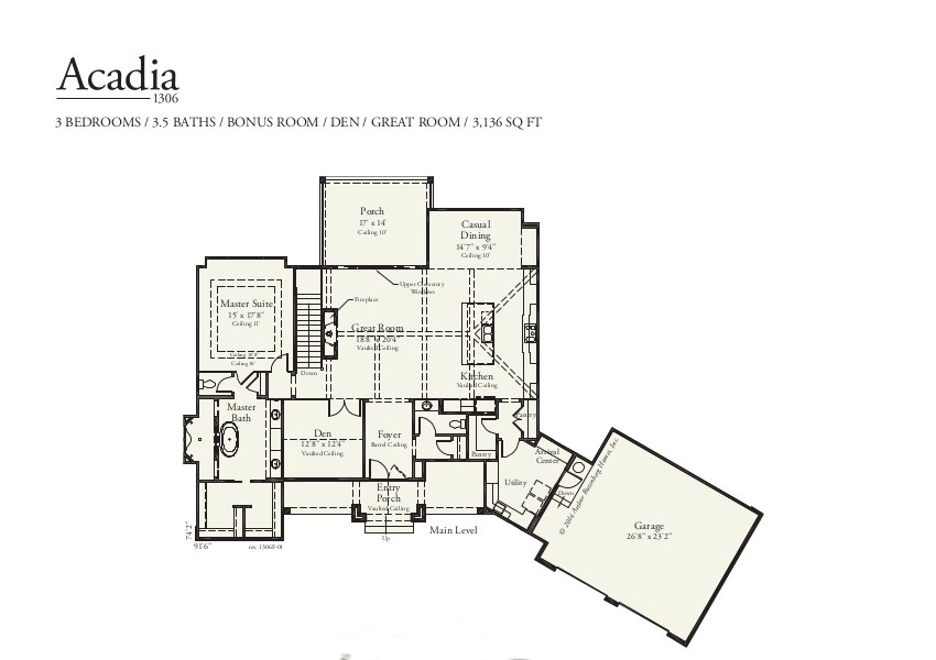Acadia 1306F - Mt Plan Collection