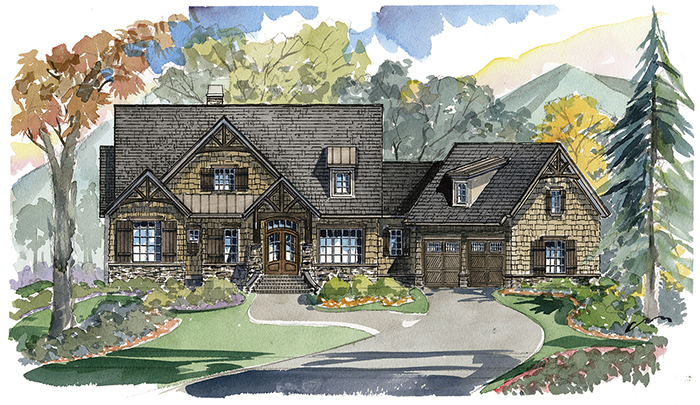 Deer Valley Home Plan - Traditional - Elevation A