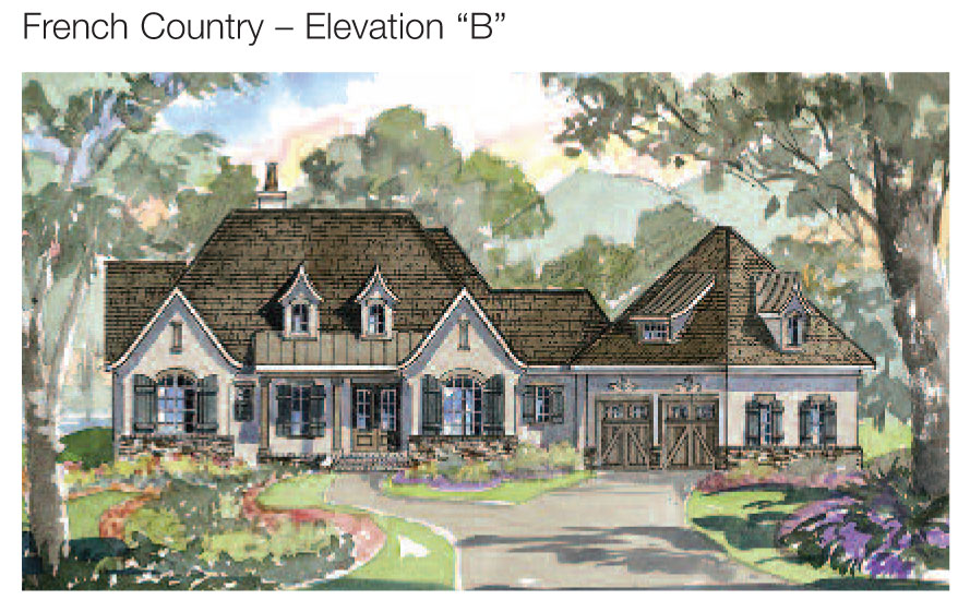 Deer Valley Home Plan - French Country - Elevation A