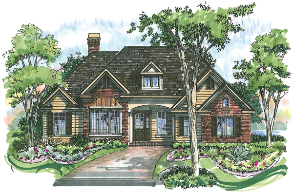 Hampton 1086 Home Plan - Elevation A