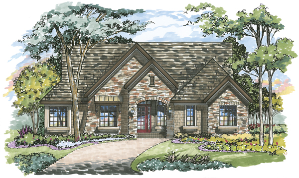 Hampton 1086 Home Plan - Elevation B