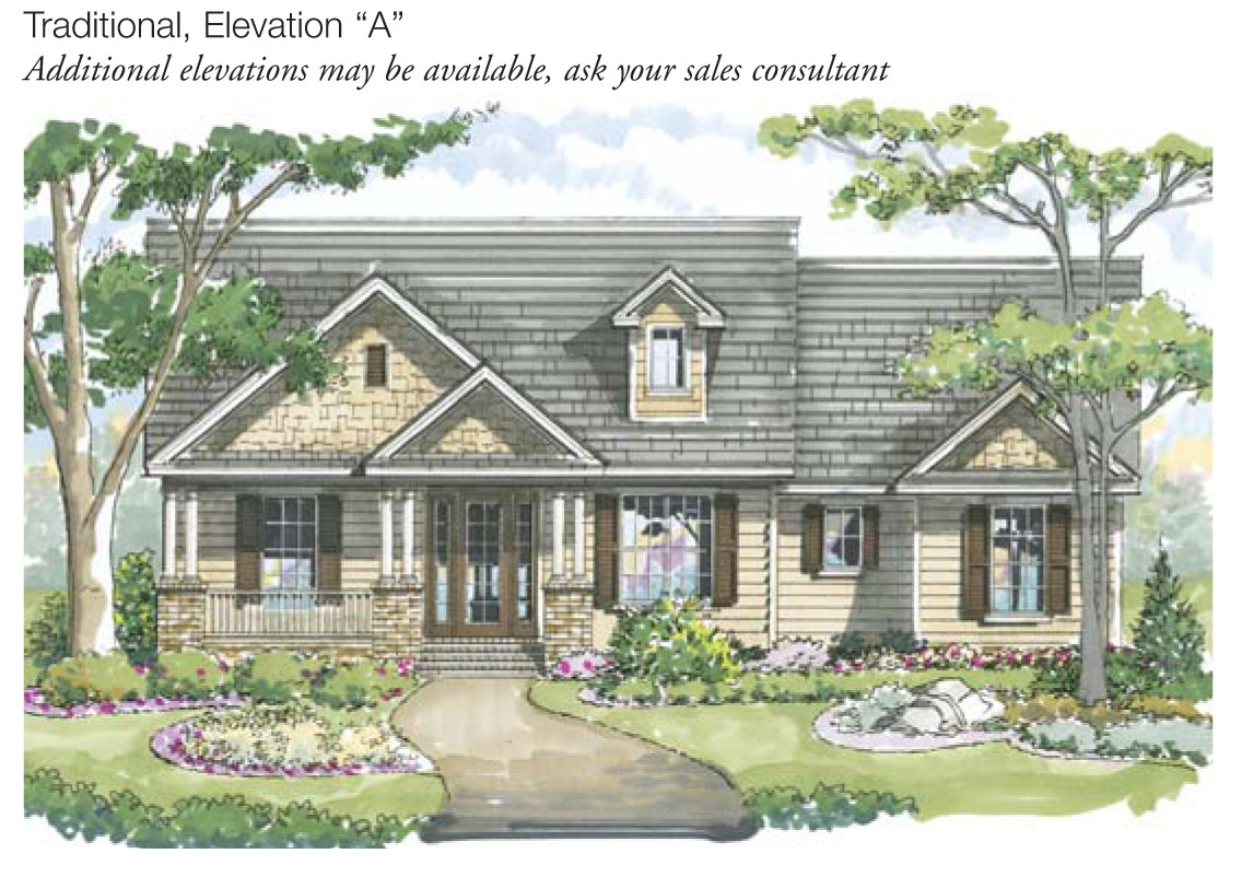 Brookdale Home Plan - Exterior Elevation A
