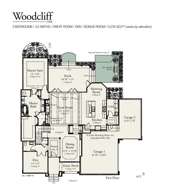 Woodcliff 1188F First Floor