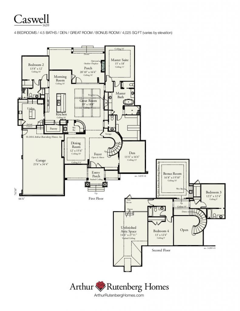 Caswell (1439F) - Classic Plan Collection