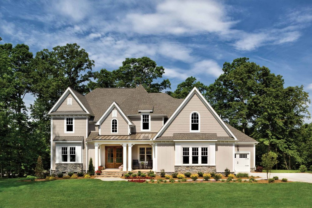 Riverdale 1209f custom home plan - Total home exteriors greenville sc ...