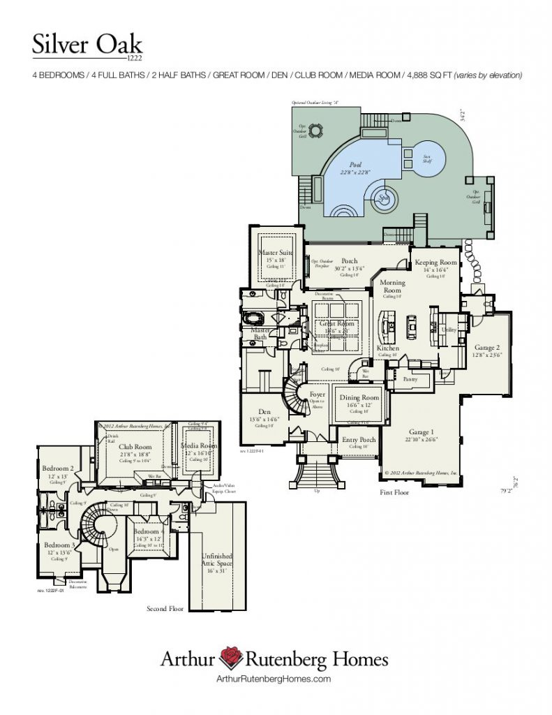 Silver Oak 1222F Floor Plan
