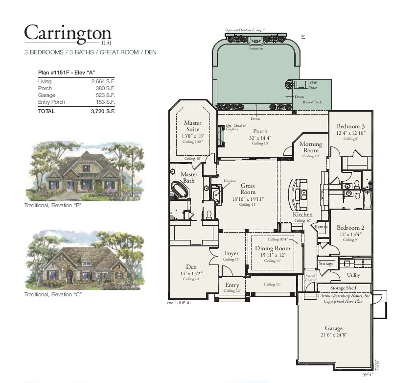 Carrington 1151 Floorplan