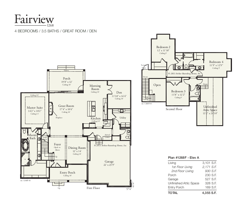 Fairview 1268 Floorplan