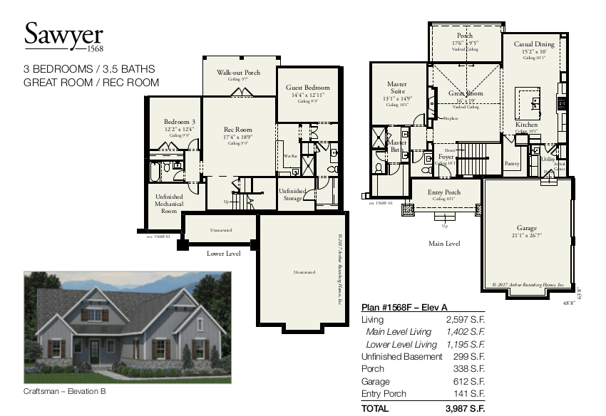 Sawyer 1568F Floorplan