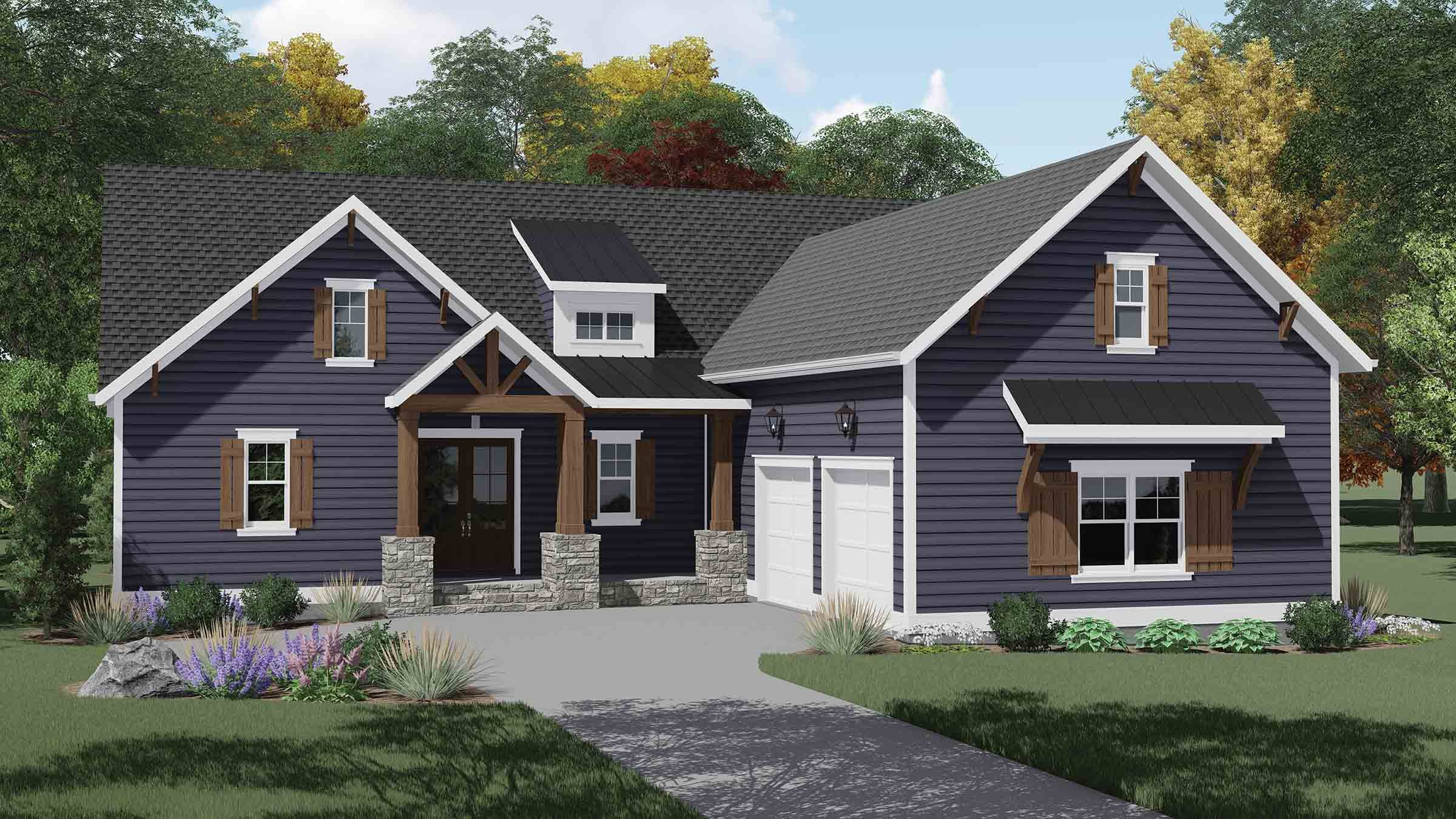 Acacia 1579F Home Plan - Elevation A