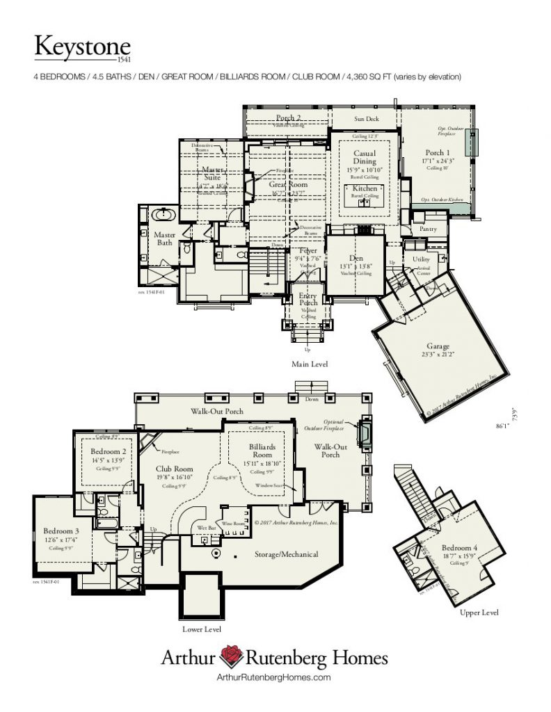 Keystone 1541 Floor Plan