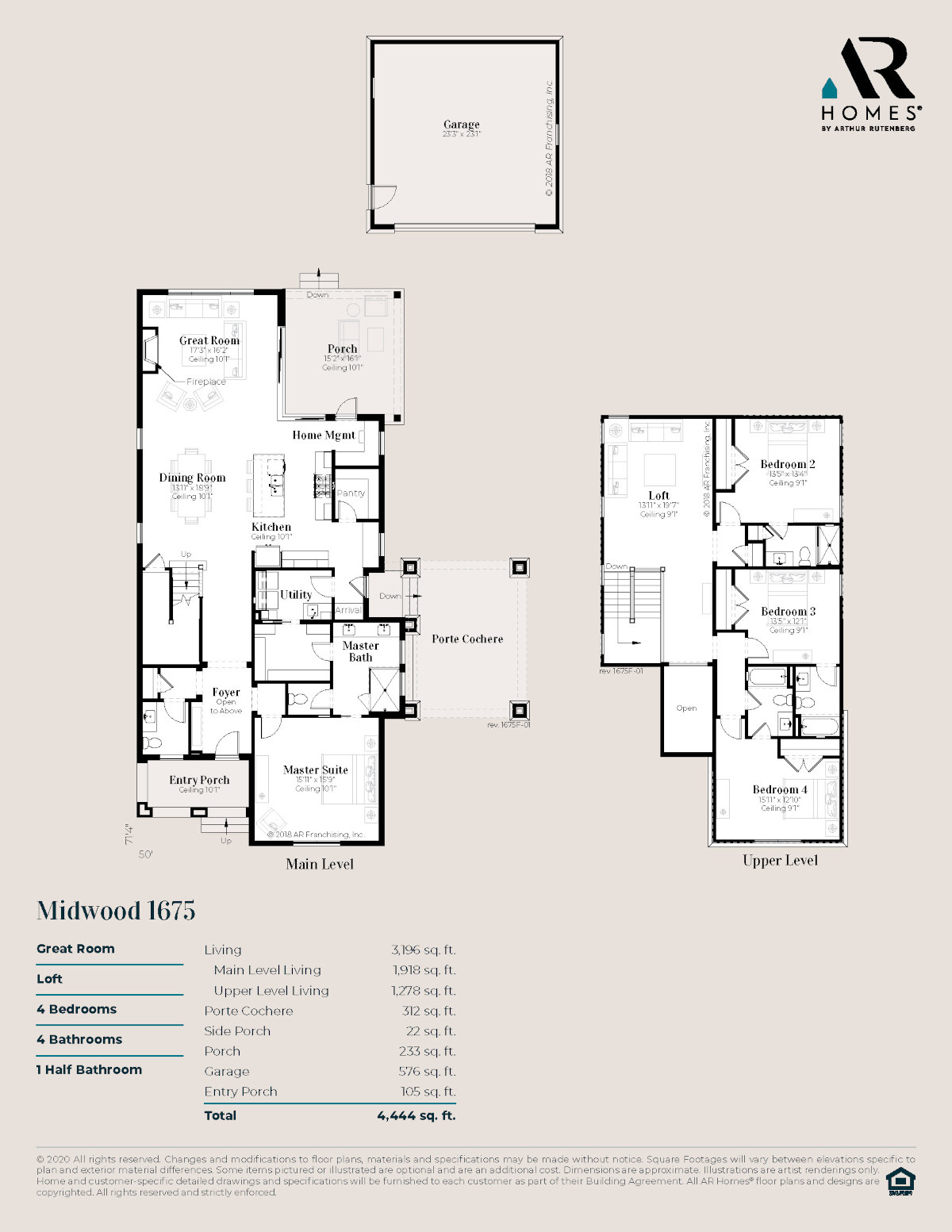 Midwood 1675 Floor Plan