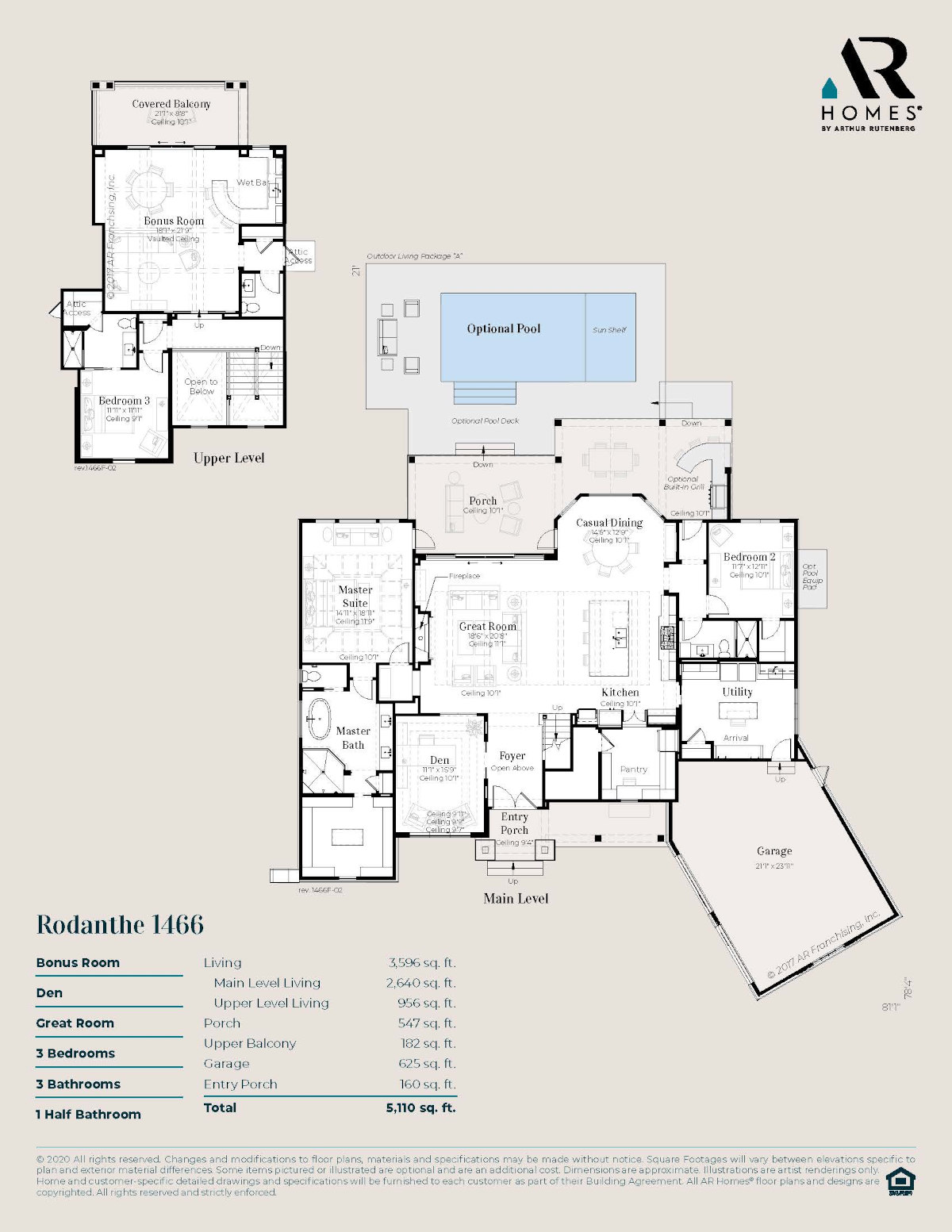 Rodanthe 1466 Floor Plan